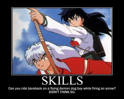 Kagome has skills by Rippleglass3