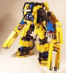 Cervatus and his Power Loader by kpstormie