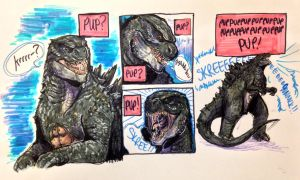 actual puppy dog godzilla by legendfromthedeep