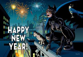 Catwoman Happy New Year by WeaselGuy