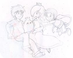 Commish: Floaty Family by Nintendrawer