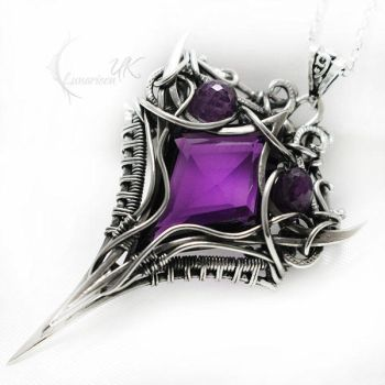 UXERTHEX Silver and Amethyst by LUNARIEEN