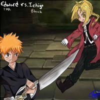 Ichigo Vs. Edward Elric request by ganzato1000