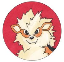 Pokemon - Arcanine custom pin by Kitamon