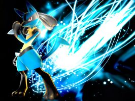 Lucario: Aura Storm by BWilde56
