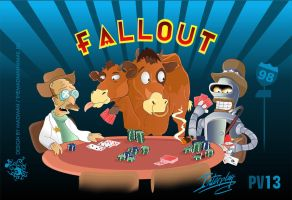 Futurama versus Fallout by imlineking
