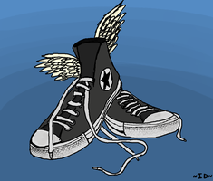 Sneakers of the Gods by IncessantDoodling
