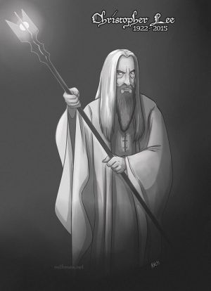 Christopher Lee by Greykitty