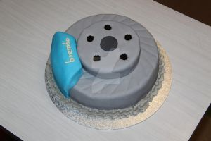 Brake Disk Cake by The-Ice-Flower