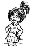 Vanellope Sharpie drawing by nighte-studios