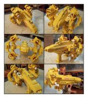 Yellow Lego Gunstar by Frohickey