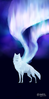 Wolf Northern Lights WIP by Anatiis