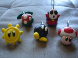 Even More Mario charms by Whitey594