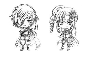BW adoptable 11th pair_duo knight CLOSED by JBeanSV