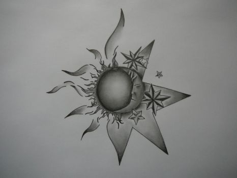 Sun-Moon tattoo concept by The-Lionet