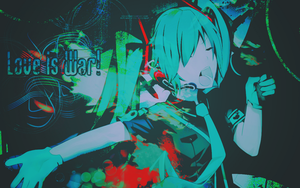 Hatsune Miku Wallpaper by rosa10
