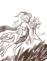 WIP -- horseback riding by onisuu