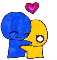 Pon and Zi hug by psychoprincess2008