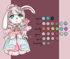Adoptable: Candy Bunny [CLOSED] by Pameloo