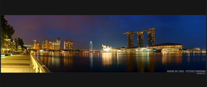 Singapore Stitched Skyline04 by clarenceangelo