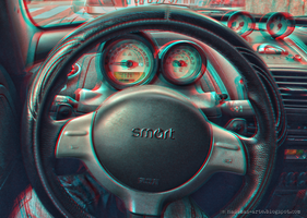 Roadster cockpit (3D anaglyph red/cyan) by nadamas