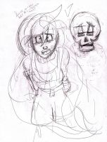 Izzy And Yorrick (Sketch) by cartoonation