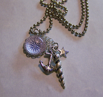 Compass Pendant with Charms by mymysticgems