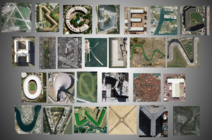 Google Earth Alphabet by Nelde
