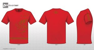 techno shirt red by Faisalharoon