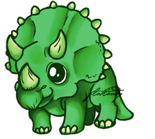 Triceratops by flatlandq