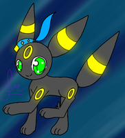 .:Chibi RQ:. - Dusky the Umbreon by MusicallyMeowstic