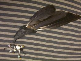 Crow Feather Smudge Fan by Lolair