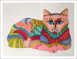 Indian Cat by tigerlilyn