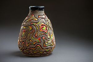 Ceramic vase with abstract pattern by Tamarik7