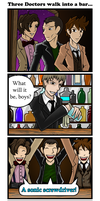Three Doctors Walk into a Bar by Jagarnot