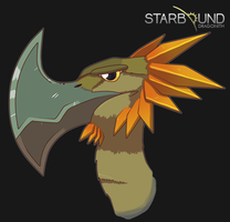 Starbound - Axebeak by Dragonith