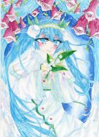 Snow Miku 2015 by Mirquatee