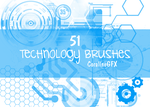 51 Technology Brushes by CoralineGFX