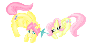.:Butterscotch and Fluttershy:. by ToBiSeh