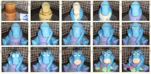 Eeyore Stages by ginas-cakes