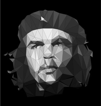 Low Poly Che Guevara portrait by 3RDigraphics