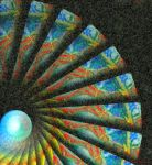 Black and Blue Kaleidoscope Spiral by stardrifting