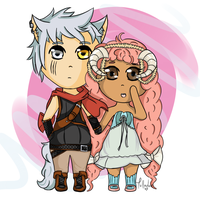 Ario and Daffodilya by Tollador