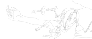 Edward Elric's Arm Lineart by CloudDozyo