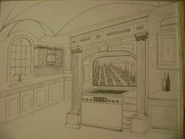 KITCHEN RENDERING DRAWING 1 by carriefawnsmom