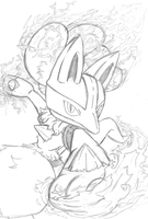 Watch the Power of Aura! (Lucario Sketch) by Th3AntiGuardian