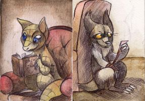 Books and Bandages by Sepia-Zorua