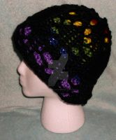 Loom Knitted Stainded Glass Lace Hat by ScarlettRoyale