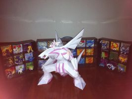 go palkia papercraft and takara tomy figure by armmm9