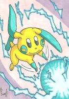 Minun Sketch Card by ibroussardart